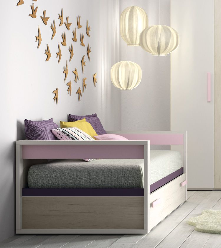 Camas nido con dos o tres camas ideales para ganar espacio Dormitorio juvenil en l