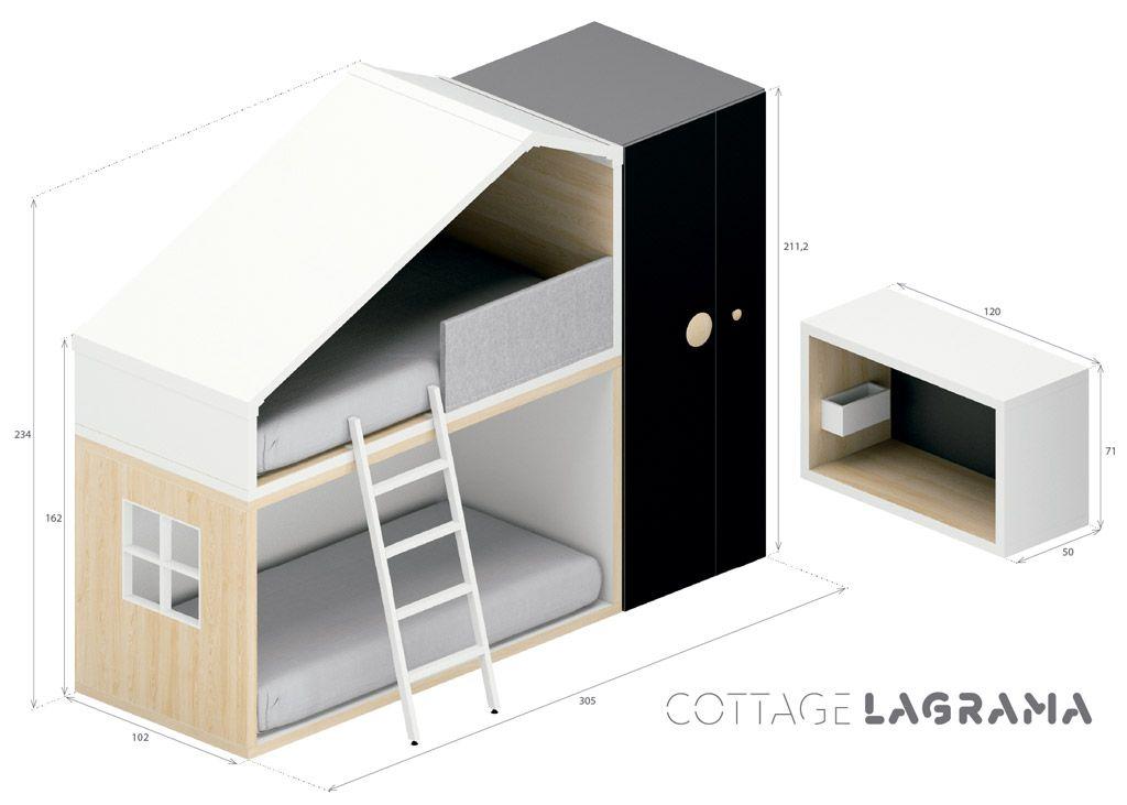 Medidas exteriores de la composición Cottage