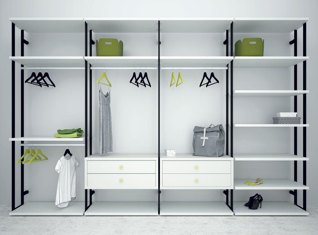 Vestidores abiertos son la mejor opci n si tienes espacio for Espejos vestidores de pared