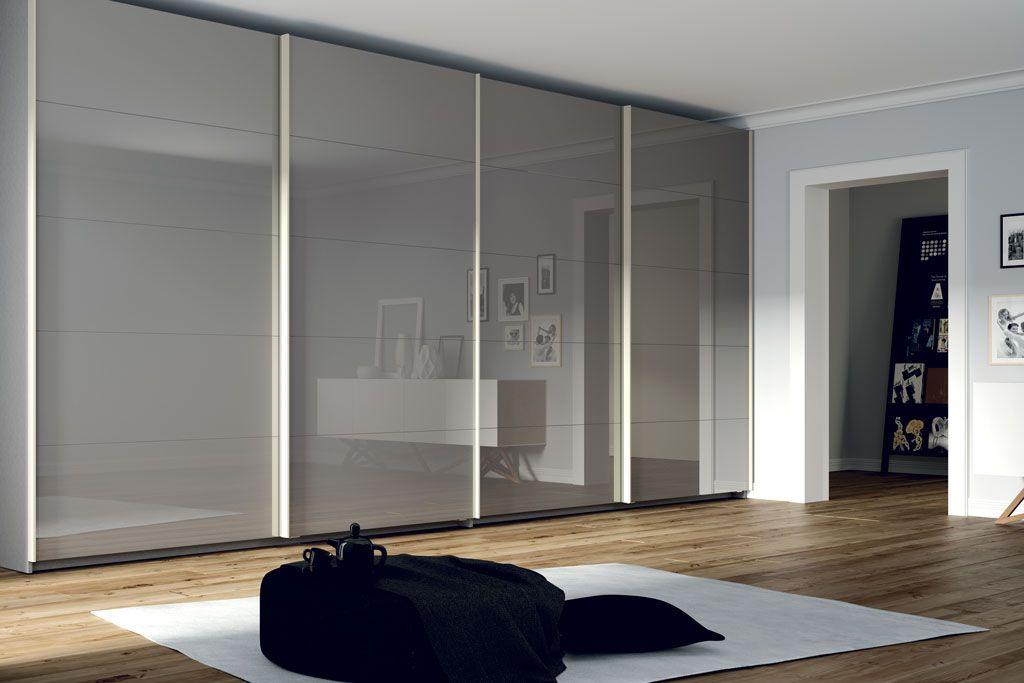 Fotografía del armario doble con los frentes modelo A5 Cristal