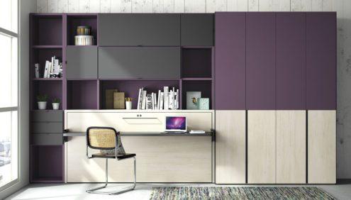 Camas abatibles te solucionan el problema de espacio en casa - Habitaciones juveniles camas abatibles horizontales ...