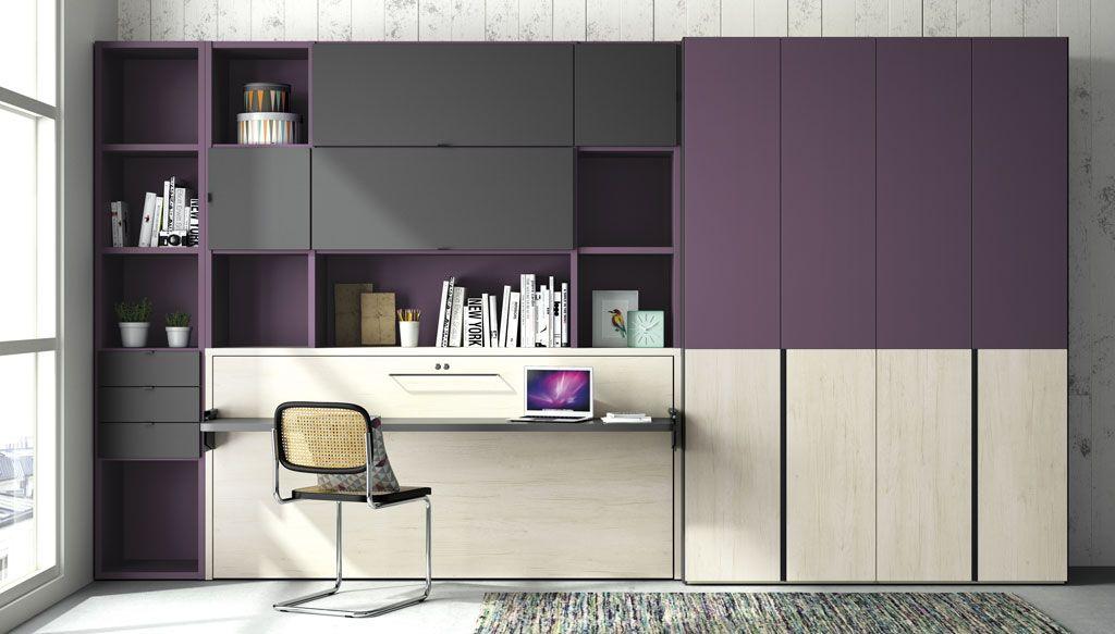 Dormitorios juveniles con un aire diferente moderno y for Dormitorios juveniles abatibles