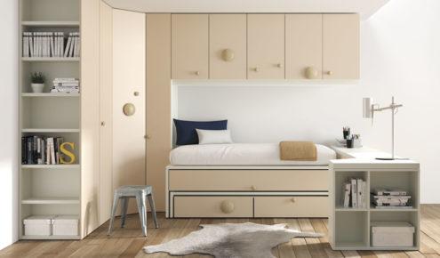 Dormitorio juvenil con armario rincón modelo Oslo