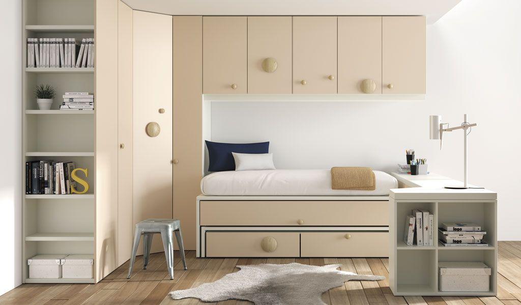 Con las camas nido o los compactos ganar s espacio en tu for Un poco chambre separee