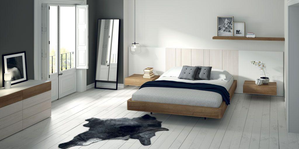 Fotografía de la composición de dormitorio con el cabezal AV