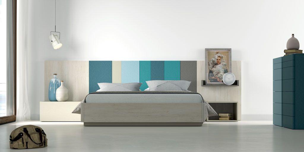 Fotografía de la composición de dormitorio con el cabezal AW color
