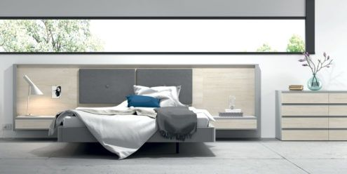 Dormitorio de matrimonio con el cabecero tapizado modelo homage