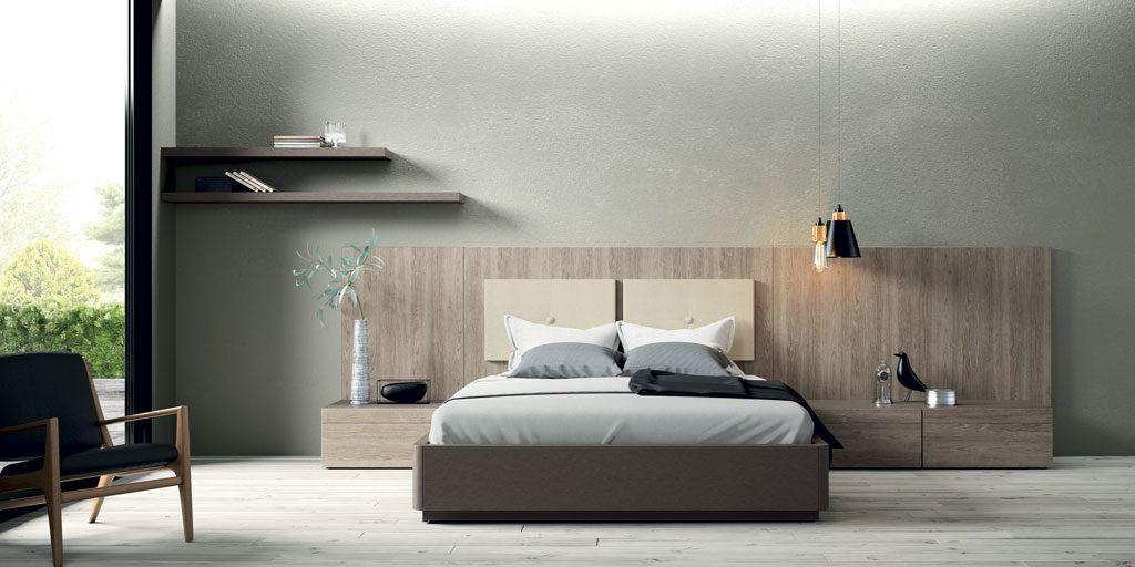 El cabecero de las camas matrimonio es pieza clave en la for Dormitorio matrimonio cama canape