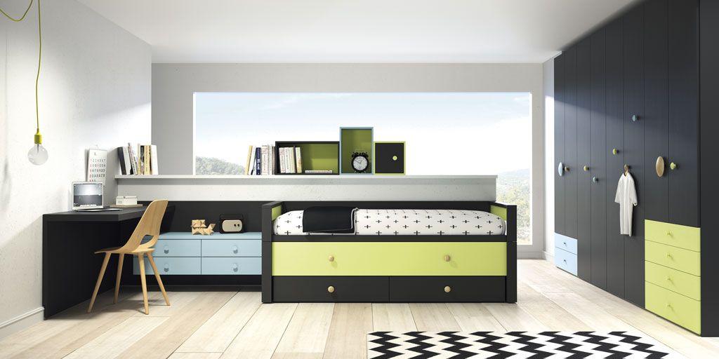 Dormitorios juveniles con un aire diferente moderno y - Habitaciones modulares juveniles ...