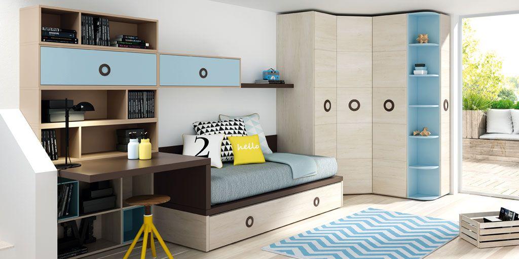 Dormitorios juveniles con un aire moderno diferente y for Camas para habitaciones juveniles