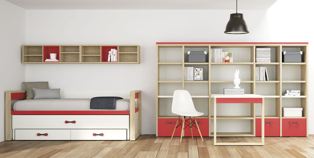 Camas nido con dos o tres camas ideales para ganar espacio - Habitacion con literas para ninos ...