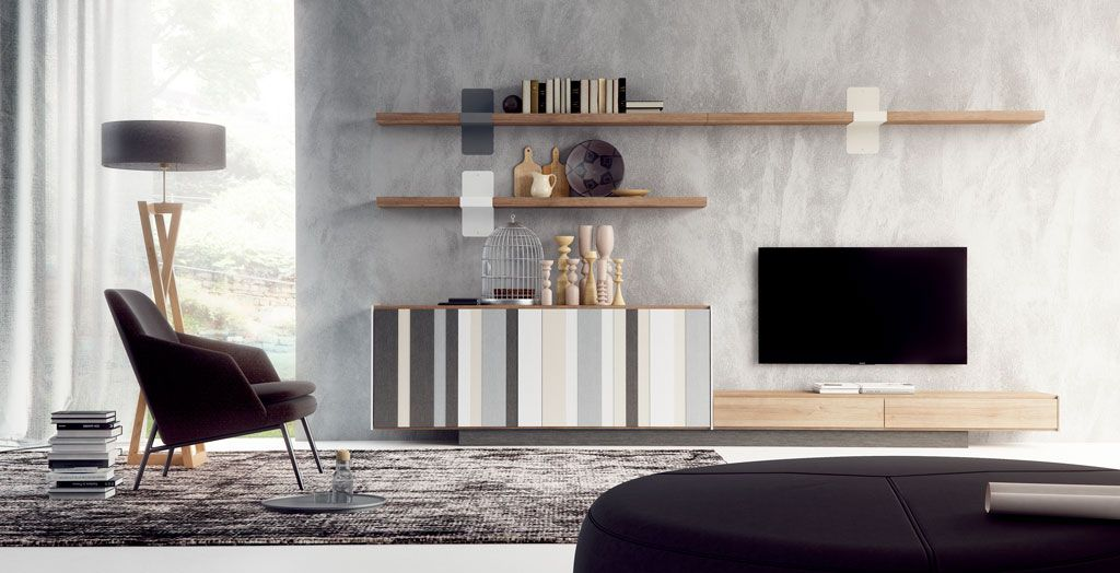 Salones modernos escoge el que m s se adapte a tu estilo for Decorar mueble de salon moderno