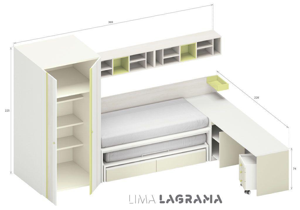 Camas nido con dos o tres camas ideales para ganar espacio for Cama nido de tres camas