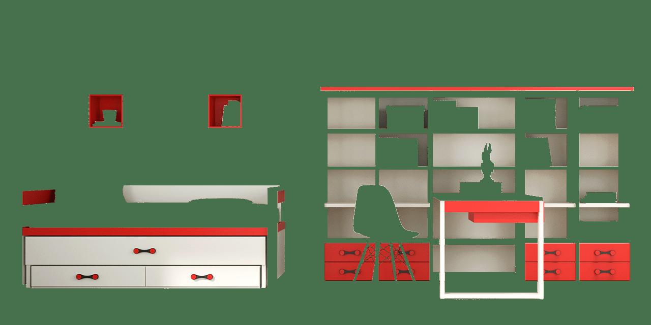 Habitación juvenil París-combinacion