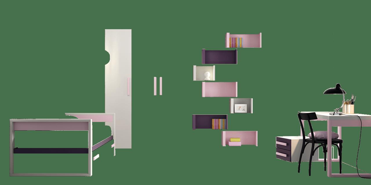 Dormitorio juvenil Quebec-combinacion