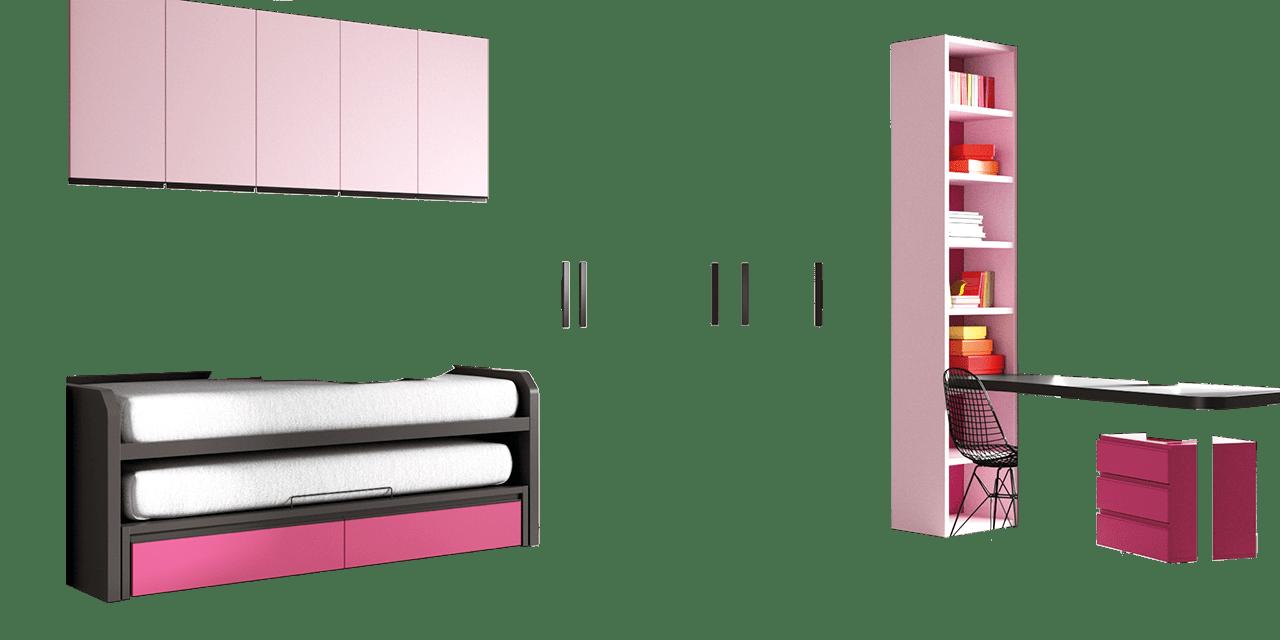 Combinación de colores Gris Vulcano, Rosa y Orquídea