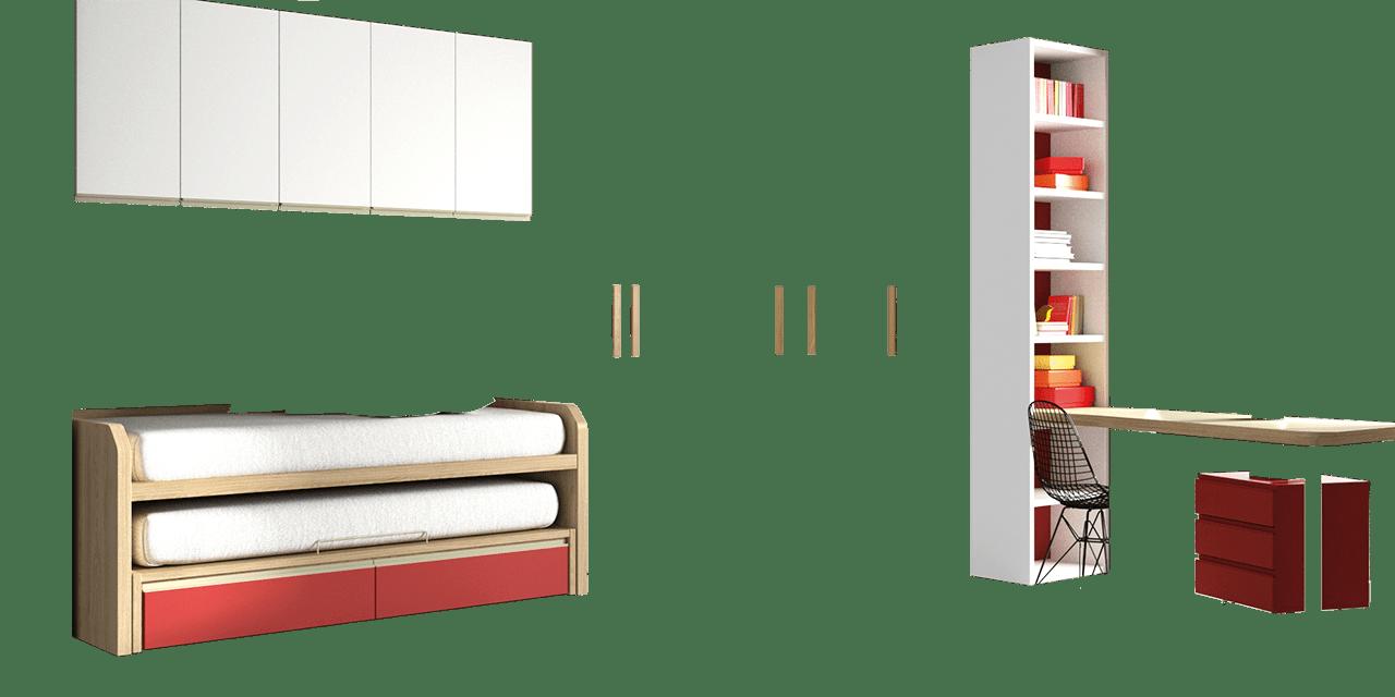 Combinación de colores Nórdico, Blanco y Rojo