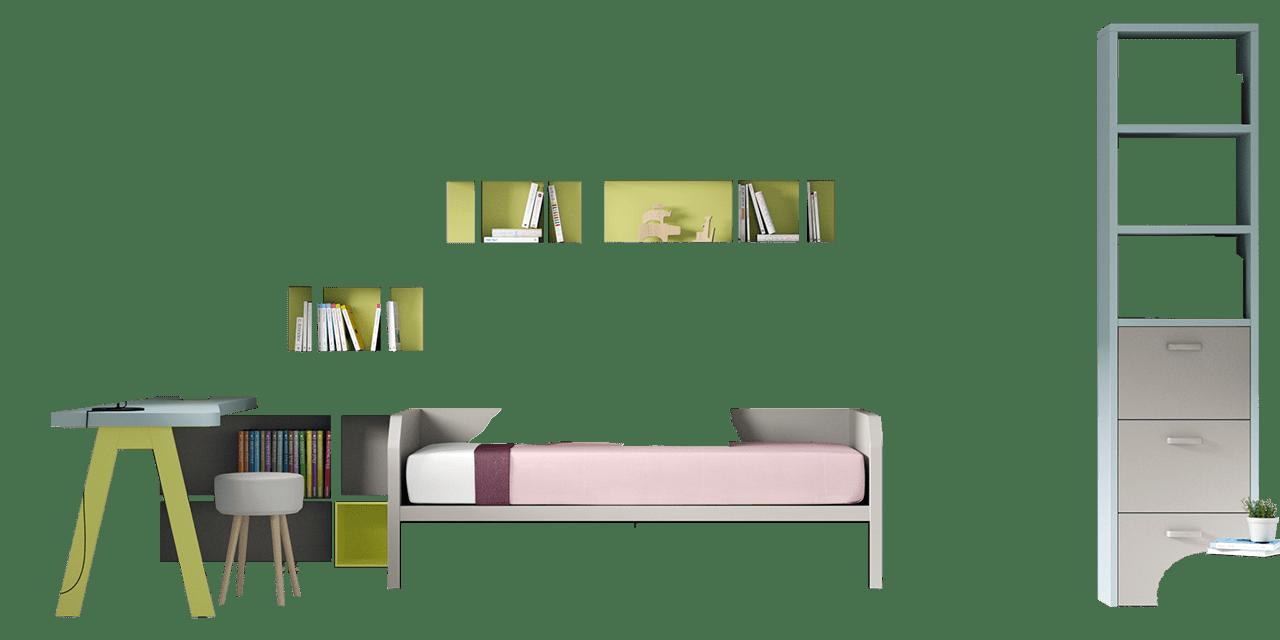 Combinación de colores Celeste, Silver y Manzana