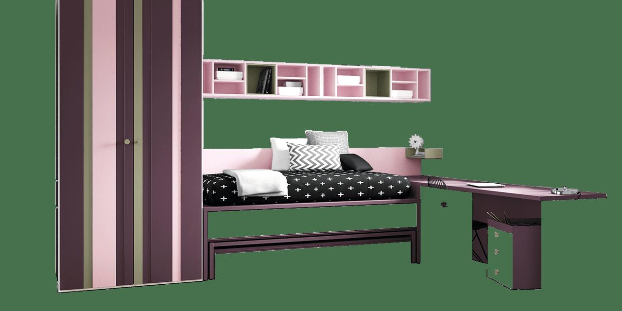 Combinación de colores Pruna, Rosa y Granito