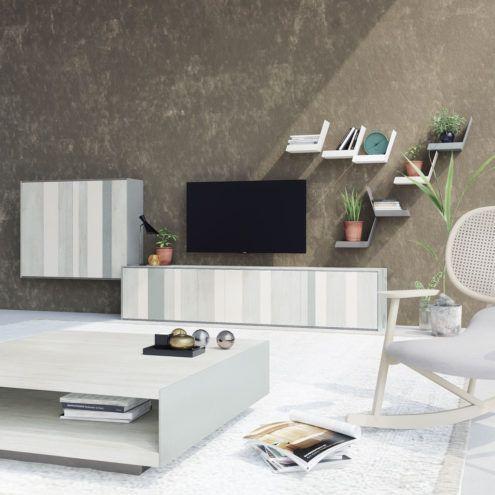 Composición baja de muebles de salón moderno