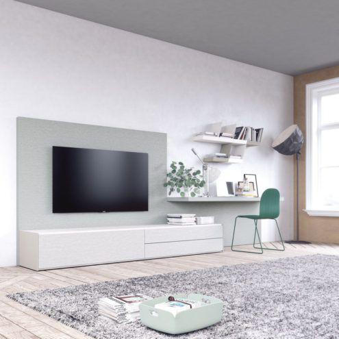 Mueble para el salón con un gran panel TV
