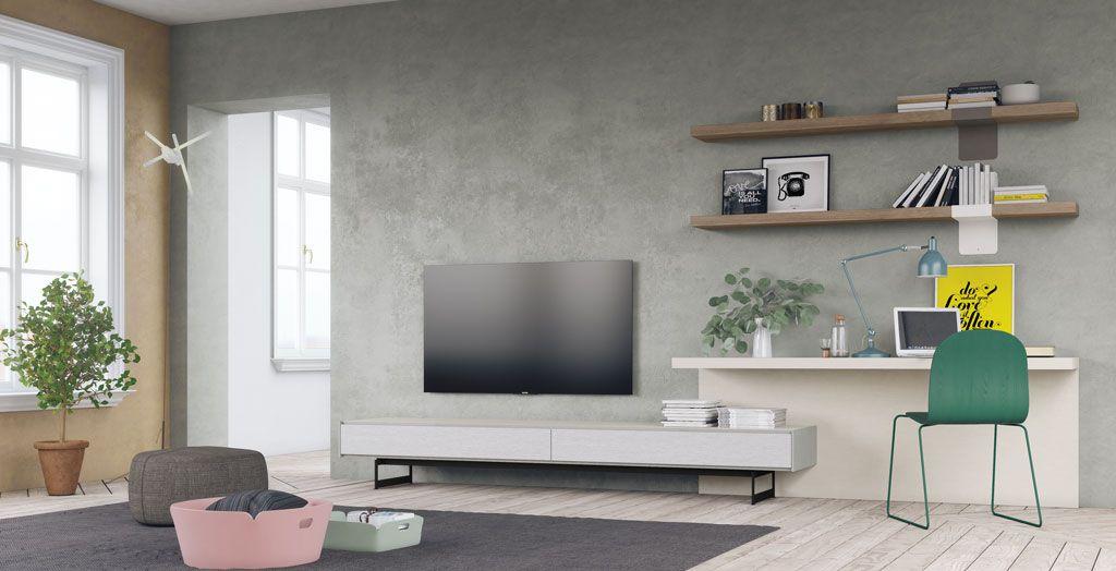 Composición minimalista de salón modelo Riga
