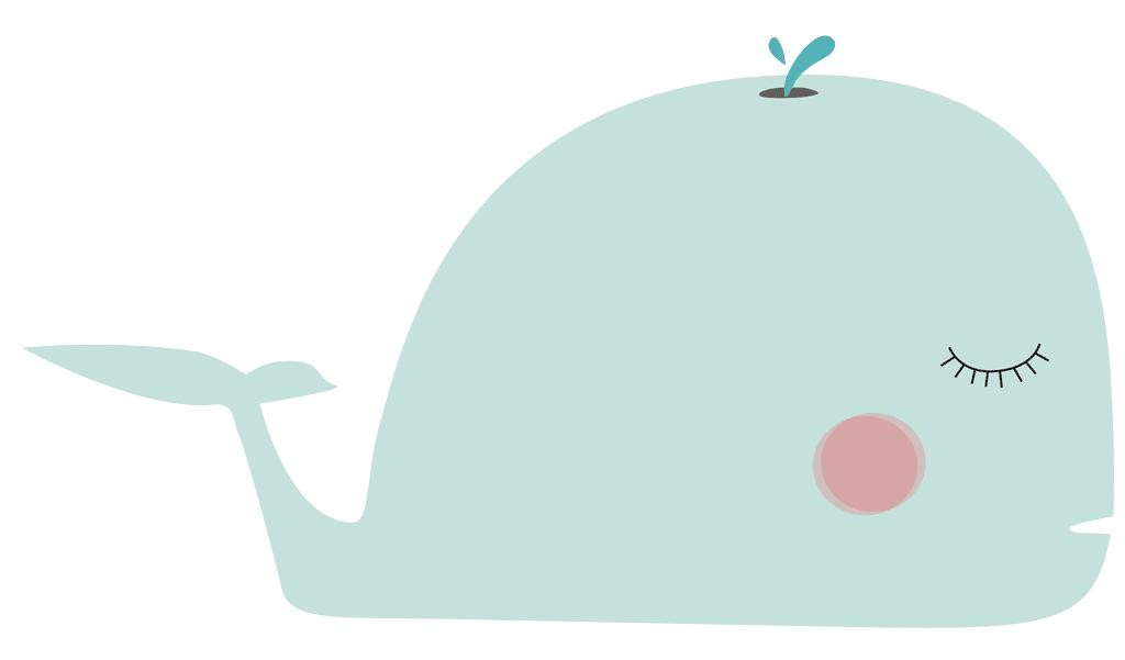 Vinilo decorativo infantil con Ballena