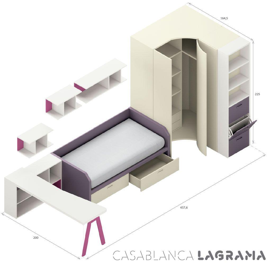 Medidas exteriores de la composición juvenil Casablanca