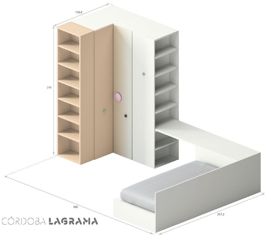 Medidas exteriores de la composición juvenil Córdoba