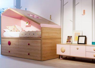 Dormitorio infantil Cottage con los dos modelos de tiradores Bolet