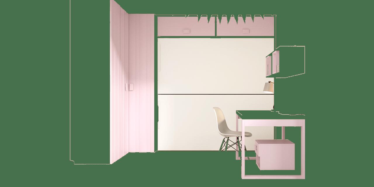 Combinación color Rosa y Blanco 09
