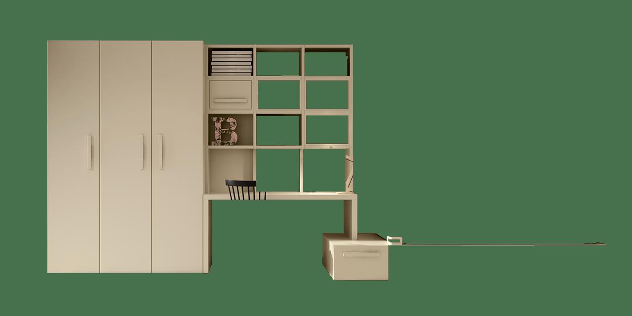 Composición de muebles juveniles Berlín en el planificador-combi