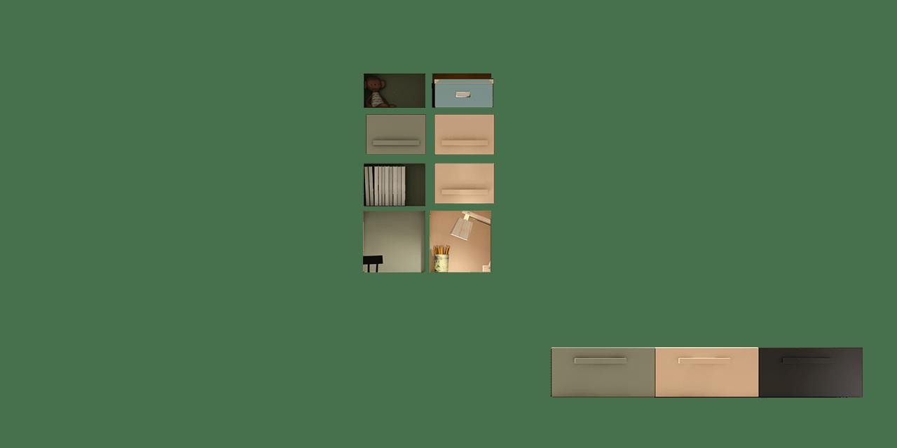 Composición de muebles juveniles Berlín en el planificador-combinacion