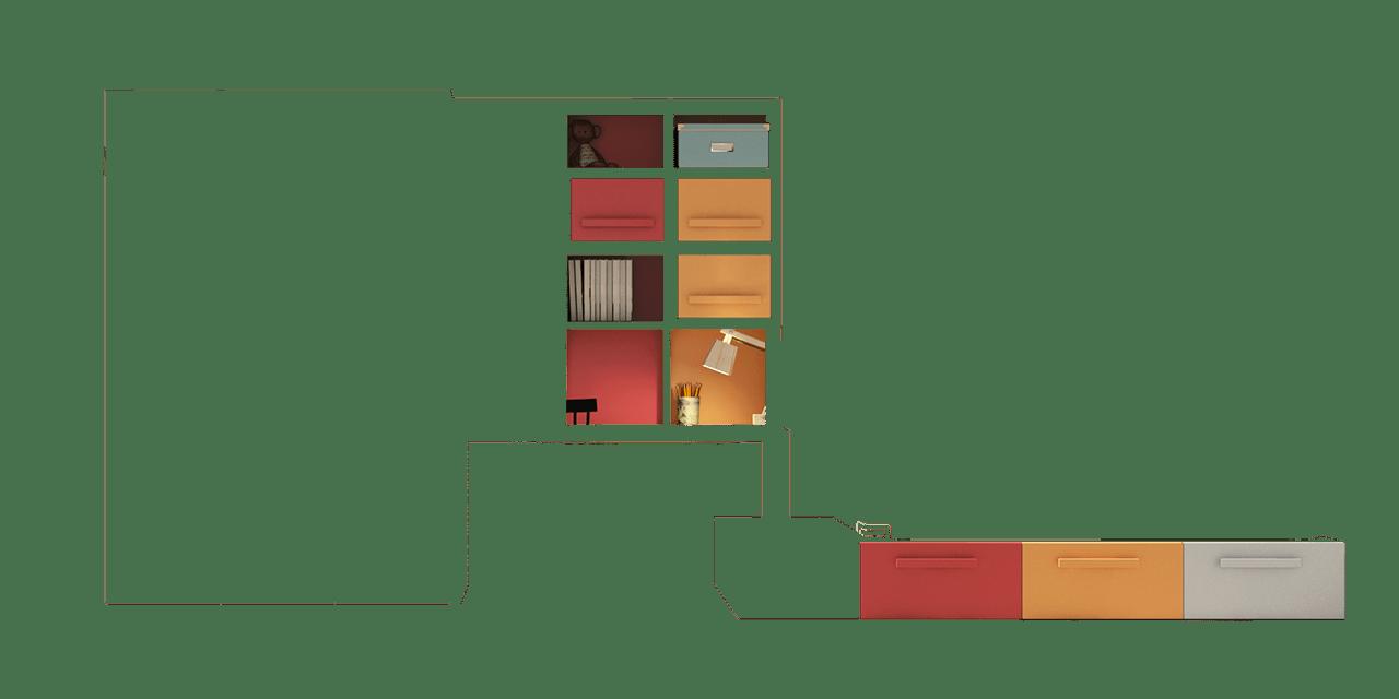 Colores Calabaza, Rojo y Silver para la composición Berlín