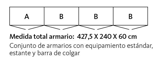 Medidas de los armarios de puertas abatibles FR Cristal