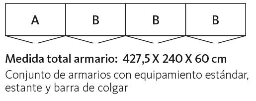 Medidas de armarios con las puertas abatibles modelo ATop