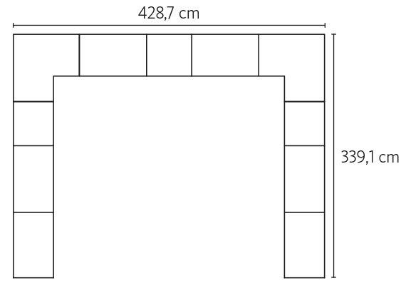 Medidas exteriores del vestidor Closet