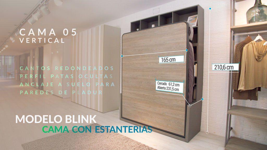 Cama abatible vertical modelo Blink