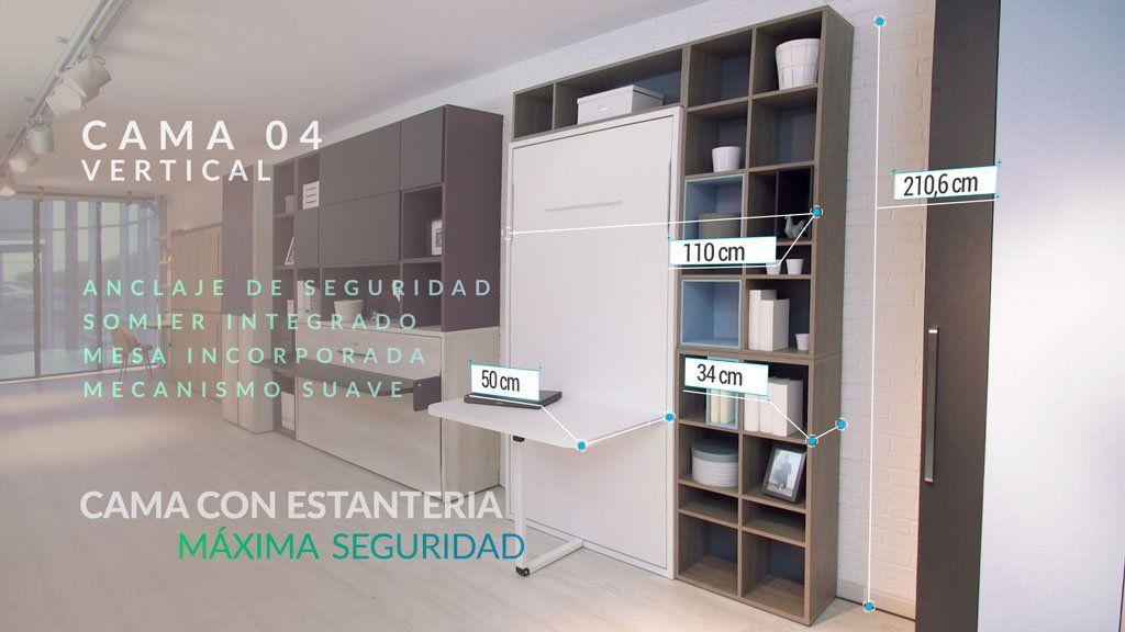 Camas abatibles te solucionan el problema de espacio en casa - Sistema cama abatible ...