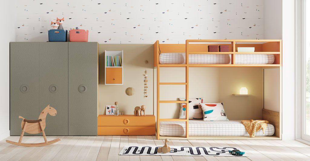 Dormitorios juveniles con un aire moderno y atrevido - Habitaciones con literas juveniles ...