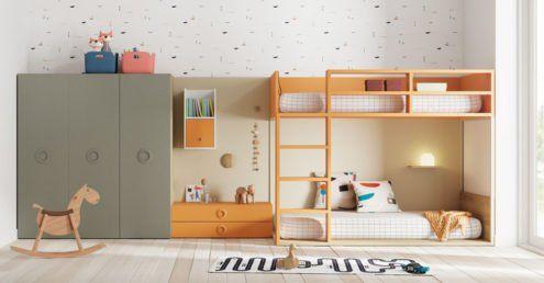 Dormitorio juvenil Turín de la colección de Literas y Trenes