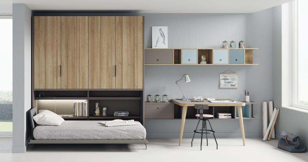 Dormitorios juveniles con un aire moderno y atrevido - Habitaciones juveniles muebles tuco ...