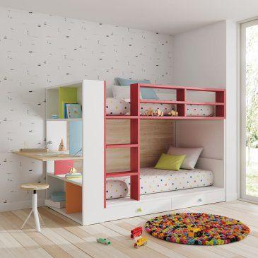 Dormitorios juveniles con un aire moderno diferente y atrevido - Literas abatibles lagrama ...