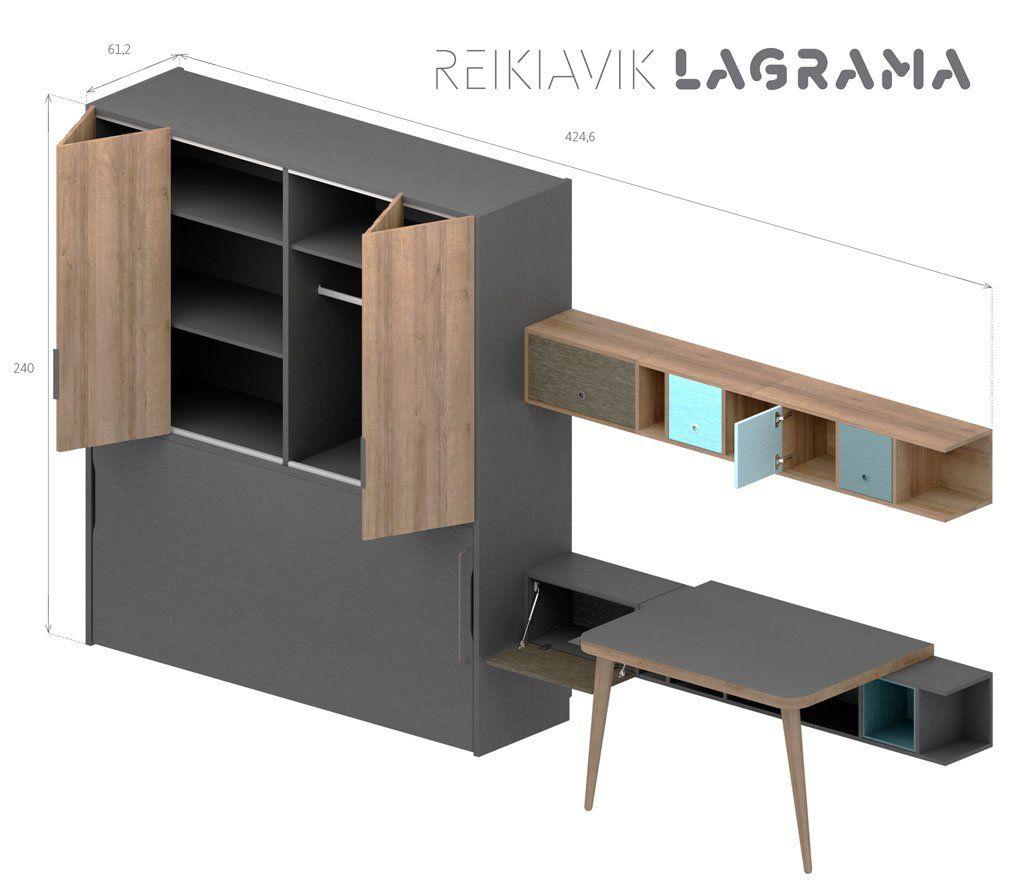 Medidas exteriores de la composición Reikiavik