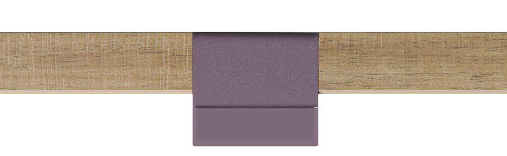Tirador Label CAP en color Pruna