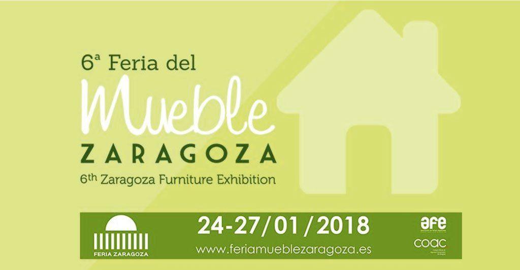 Cartel de la 6ª edición de la feria del mueble de Zaragoza 2018