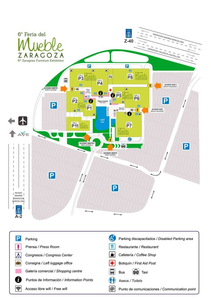 Plano de la Feria del mueble de Zaragoza 2018