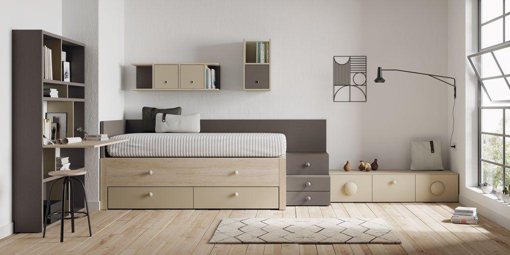 Colores neutros y una distribuci n muy equilibrada esto for Muebles la carlota dormitorios juveniles