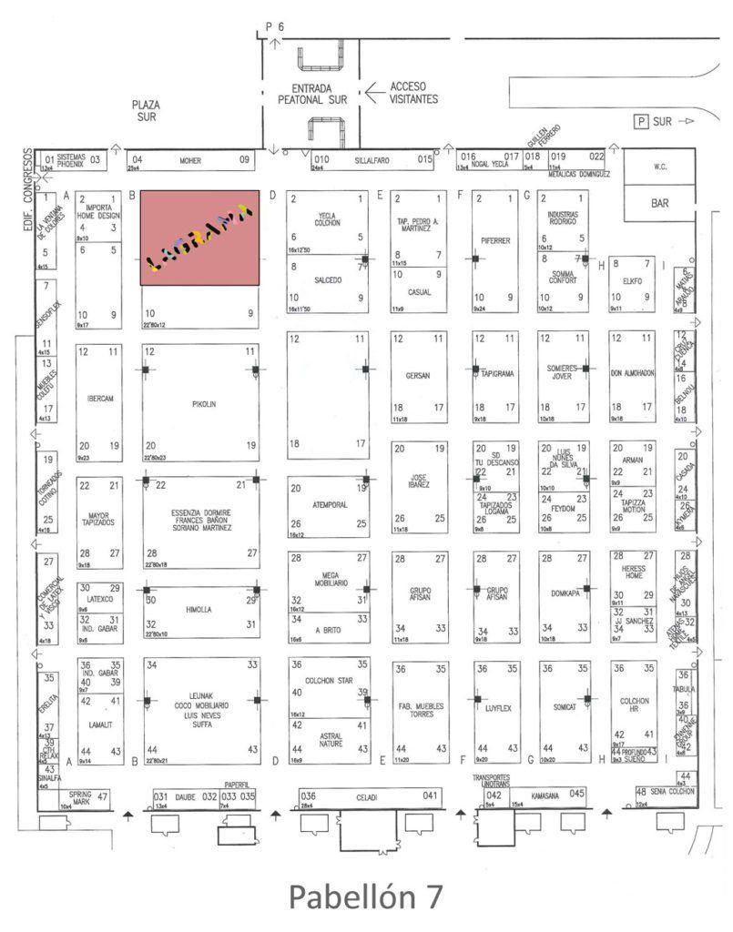 Plano de situación del stand de Lagrama