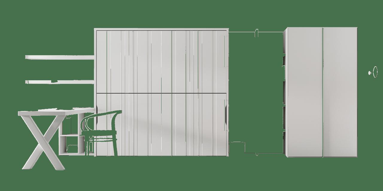 Color Blanco Disset en los muebles juveniles Sao Paulo